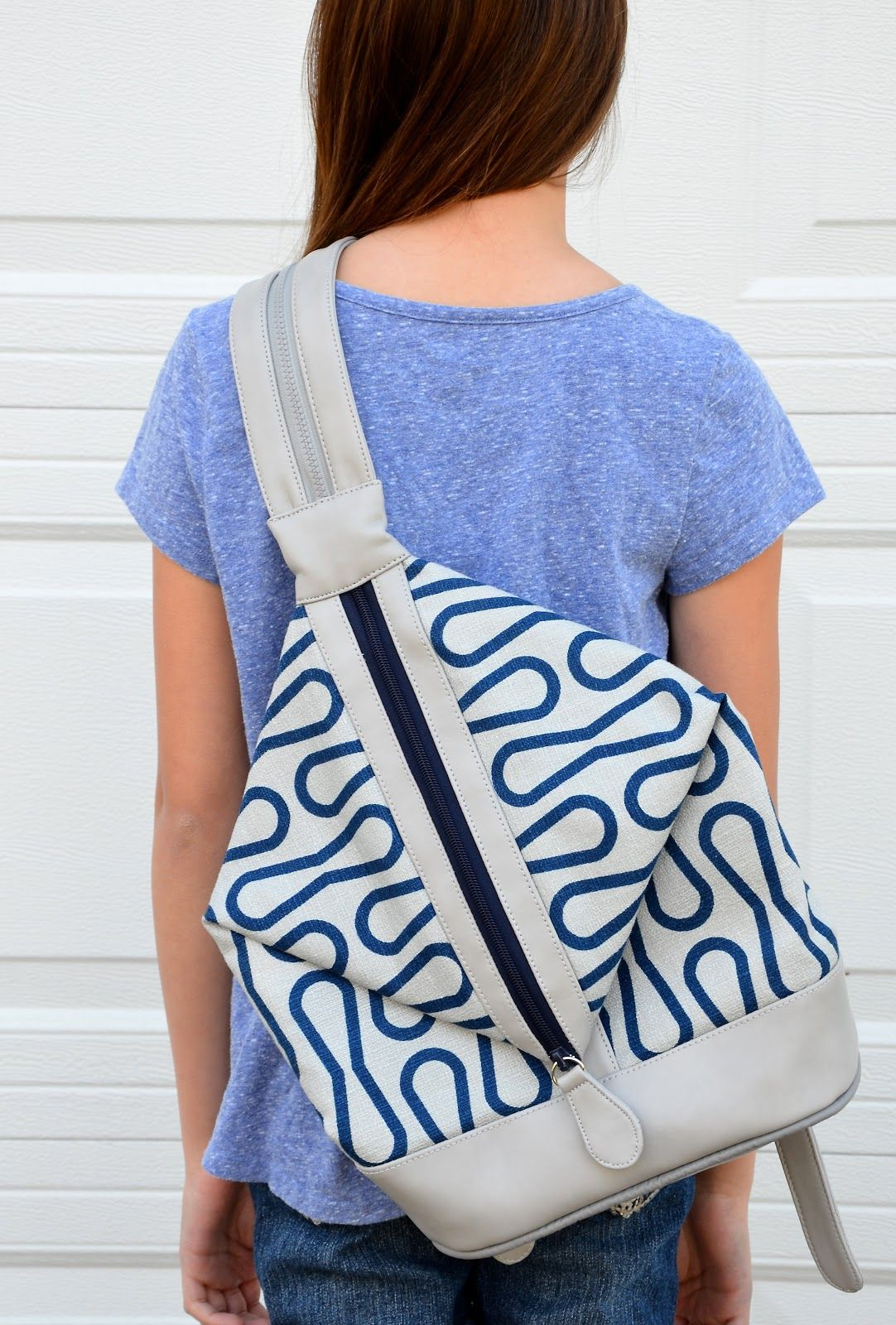 Ikat Bag\'s 3-way bag design, including strap that splits in half to ...
