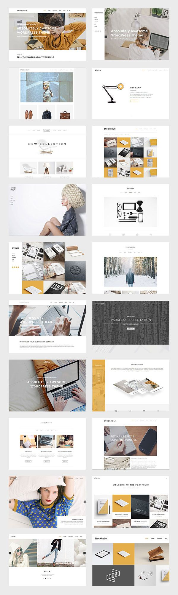 Stockholm, a multi-concept theme for WordPress. The Stockholm WordPress theme was built with Swedish design trends in mind and a huge attion to details. Wh