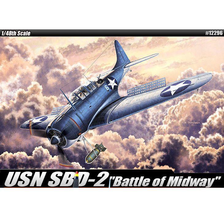 [Academy] 1/48 USN SBD-2 'Battle of Midway' Plastic Model Kit 12296 #ACADEMY