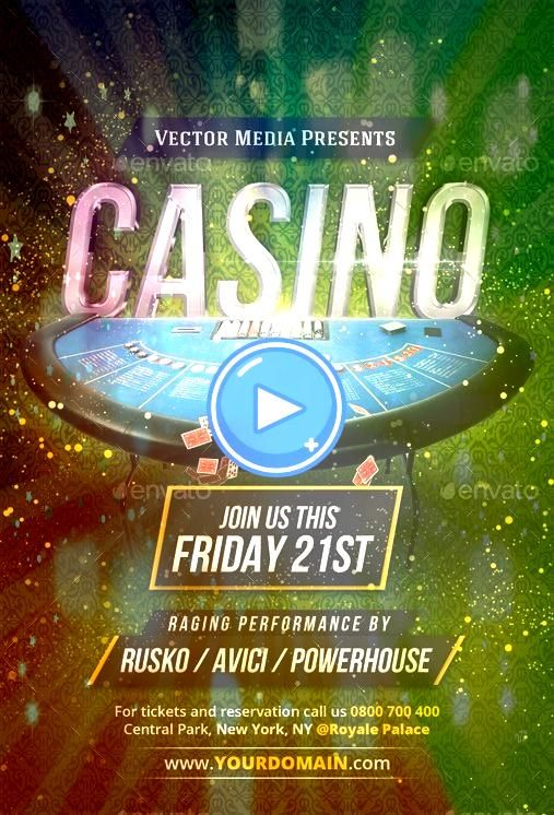 FlyerCasino  Flyer Summer Party Flyer Back To The Eighties Movie Poster Jazz Festival Flyer Glamorous Night Party Flyer Template Valentine Night Party Summer Festival Fl...