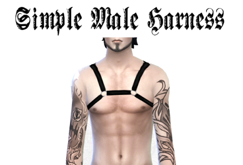 by lady hayny at Hayny's sims things - simple male harness ...