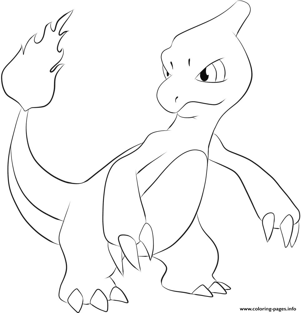 Print 005 charmeleon pokemon coloring pages | Pokemon | Pinterest