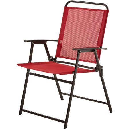 Attractive Mainstays Pleasant Grove Sling Folding Chair, Set Of 2