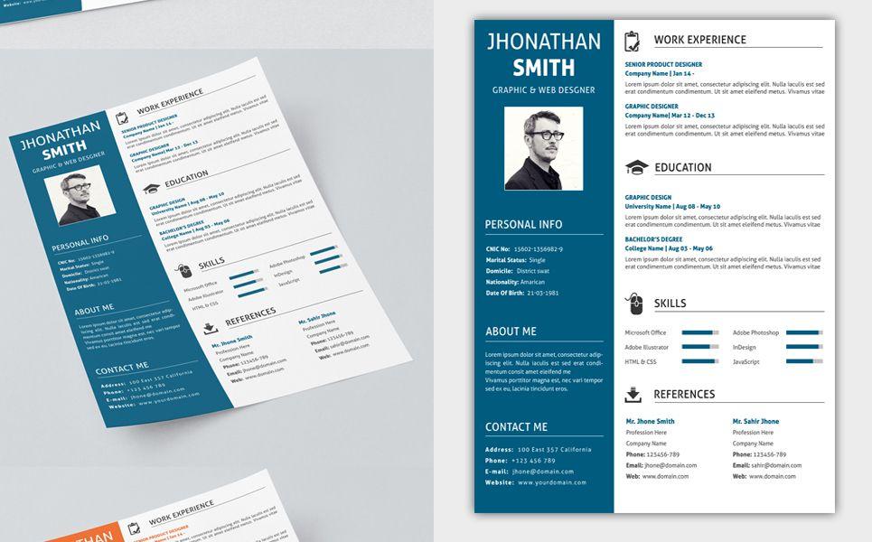 john smith printready resume template  71573