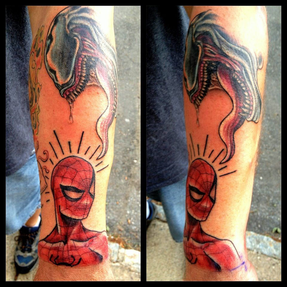 Spider Man Venom Carnage Tattoo: Spiderman And Venom Tattoo