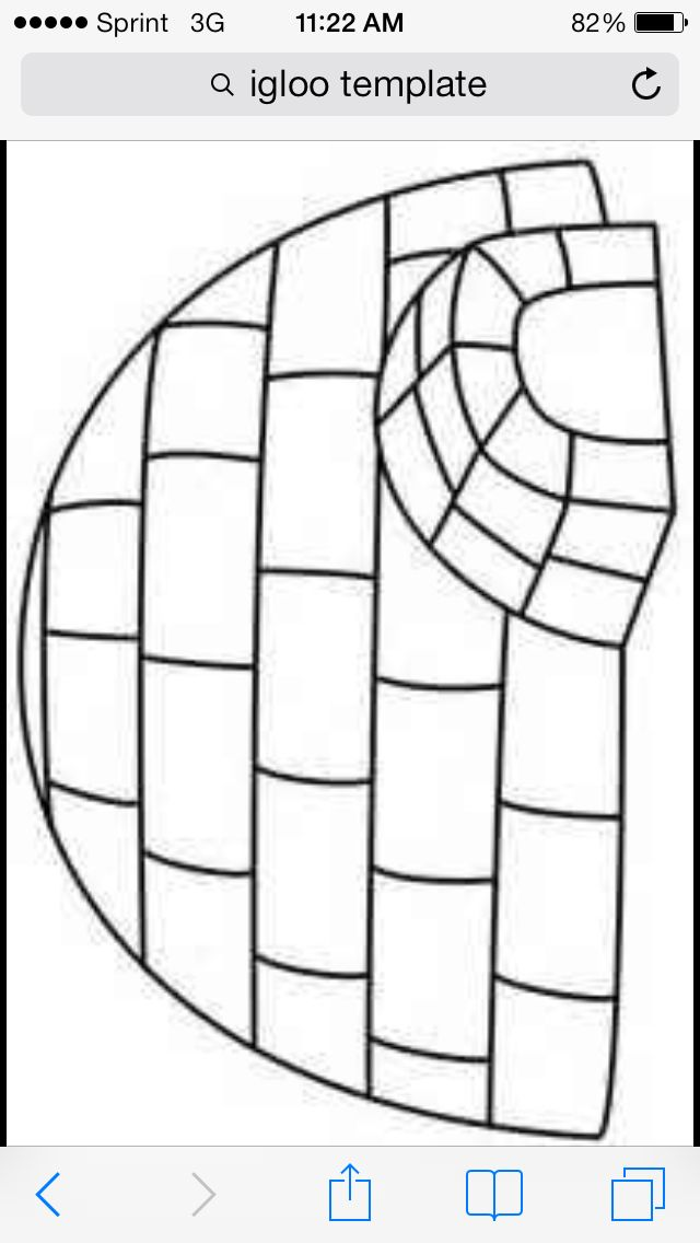 igloo coloring pages for preschool - photo#3