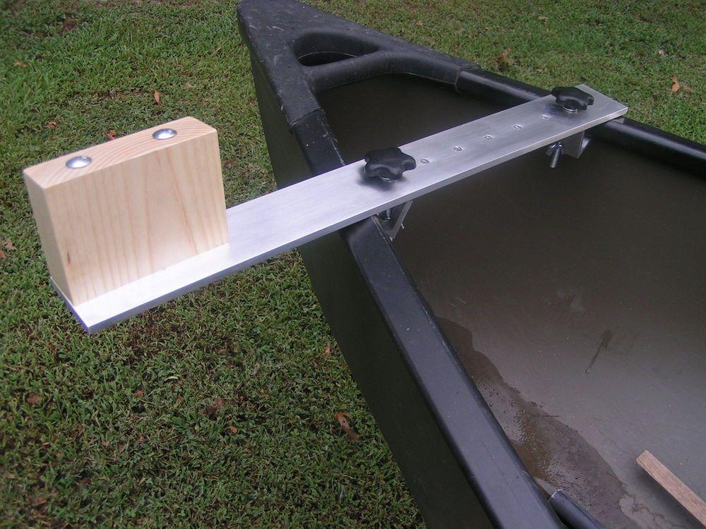 Canoe trolling motor mount aluminum ash in sporting for Fishing kayak with trolling motor