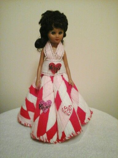 A doll i redress9ed for valentine day