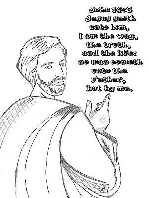 Childrens Gems In My Treasure Box John 14 6 Coloring Page