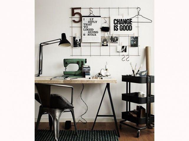 Bureau sur traiteau noir chambre dami❤ pinterest desks