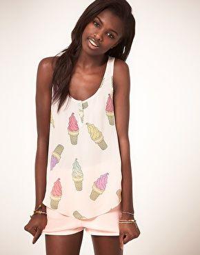 ASOS Vest With Ice Cream Print