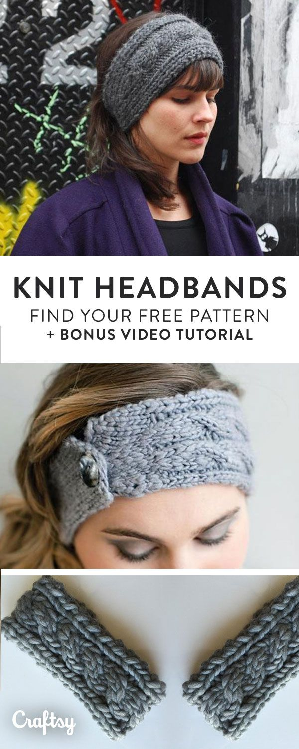 Our Favorite Knit Headband And Earwarmer Patterns To Keep You Cozy
