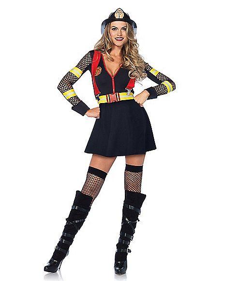 Adult Red Hot Fire Captain Costume - Spirithalloween Halloween - hot halloween ideas