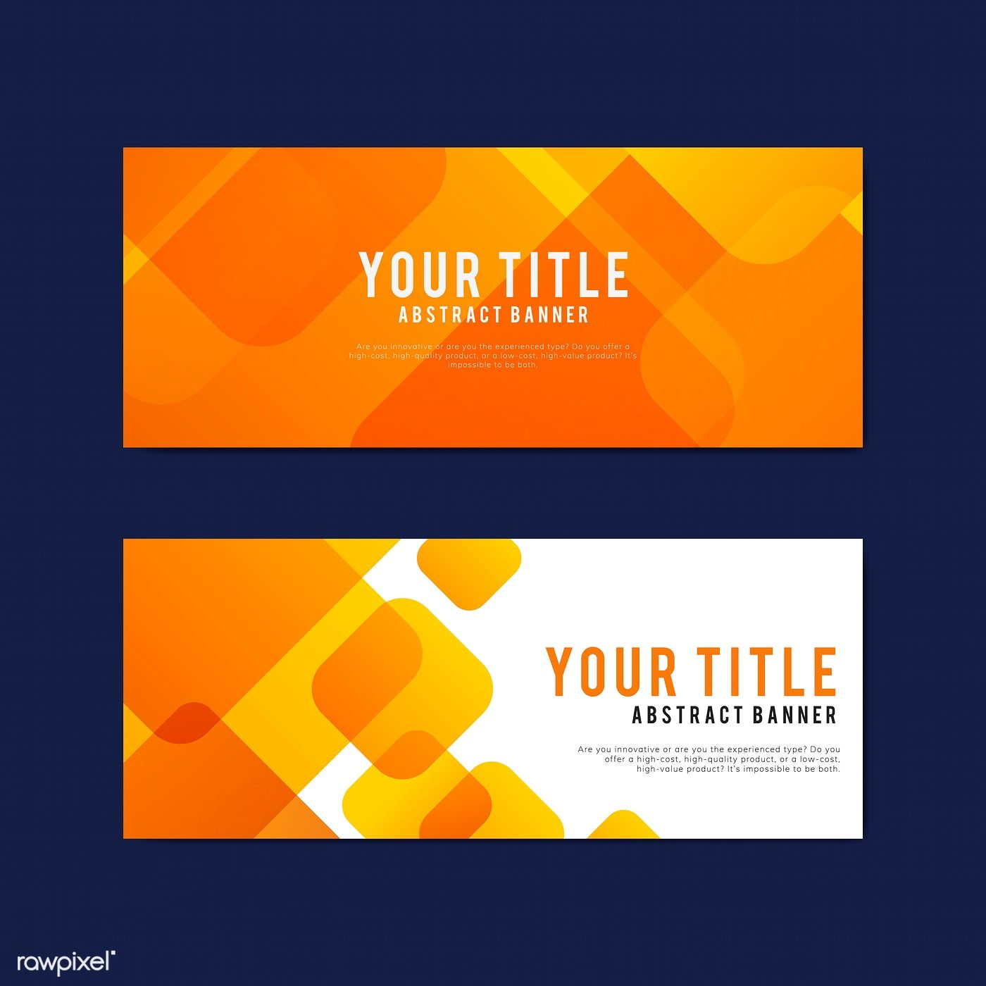 Colorful And Abstract Banner Design Templates Free Image By Rawpixel Com Tvzsu Banner Design Template Design Web Banner Design