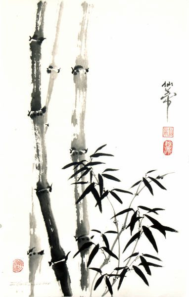 Bamboo Japanese Ink Painting Bamboo Art Bamboo Tattoo
