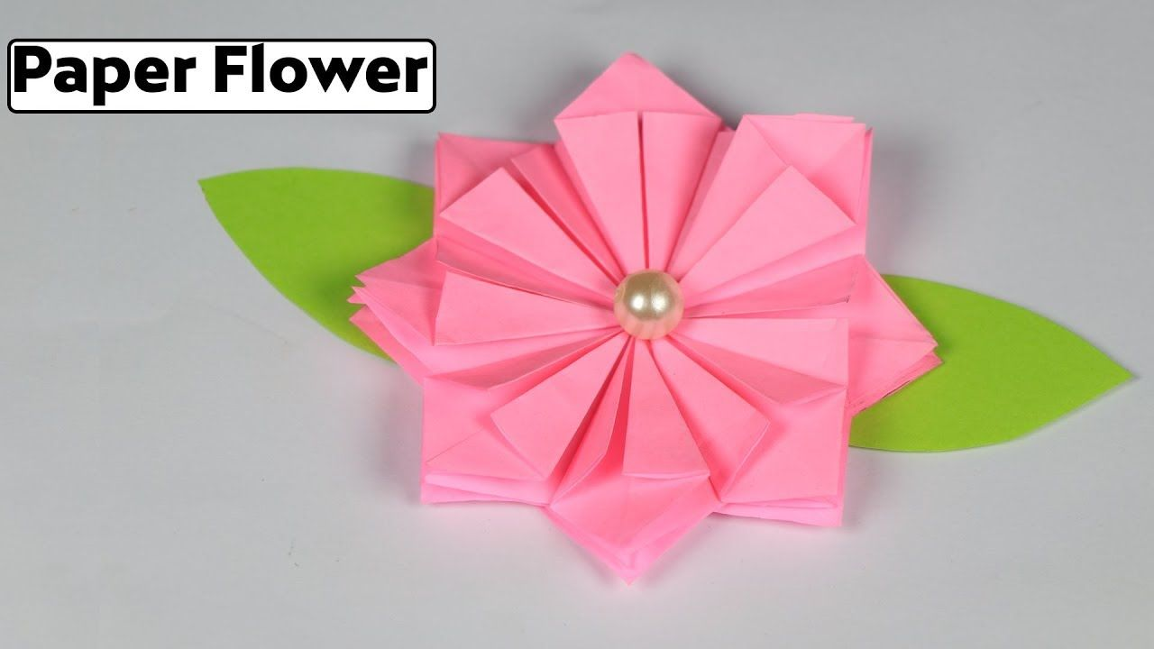 How to make origami flower making paper flowers step by step very how to make origami flower making paper flowers step by step very easy mightylinksfo Images