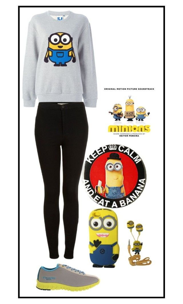 """""""minions look..."""" by inezoliveiralife ❤ liked on Polyvore"""