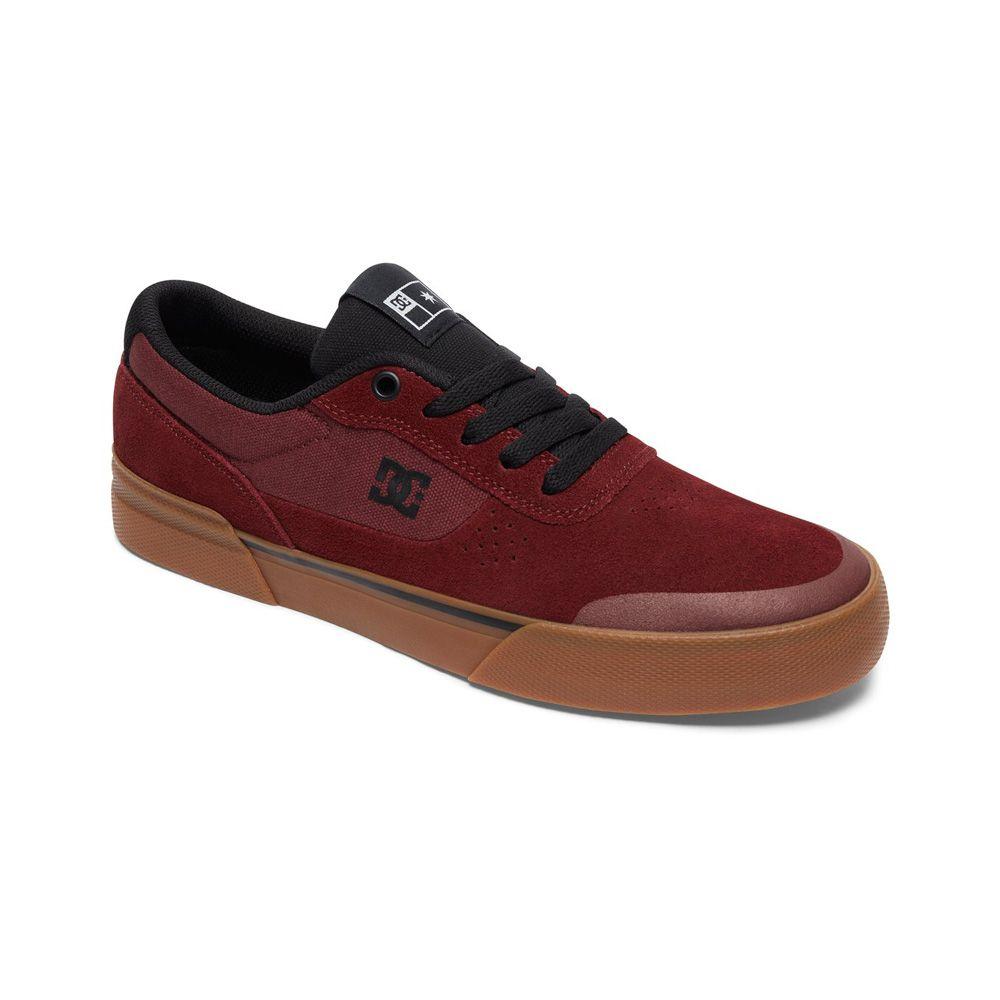 Zapatillas DC Shoes Switch Plus S Maroon de hombre en color granate con la  suela marrón