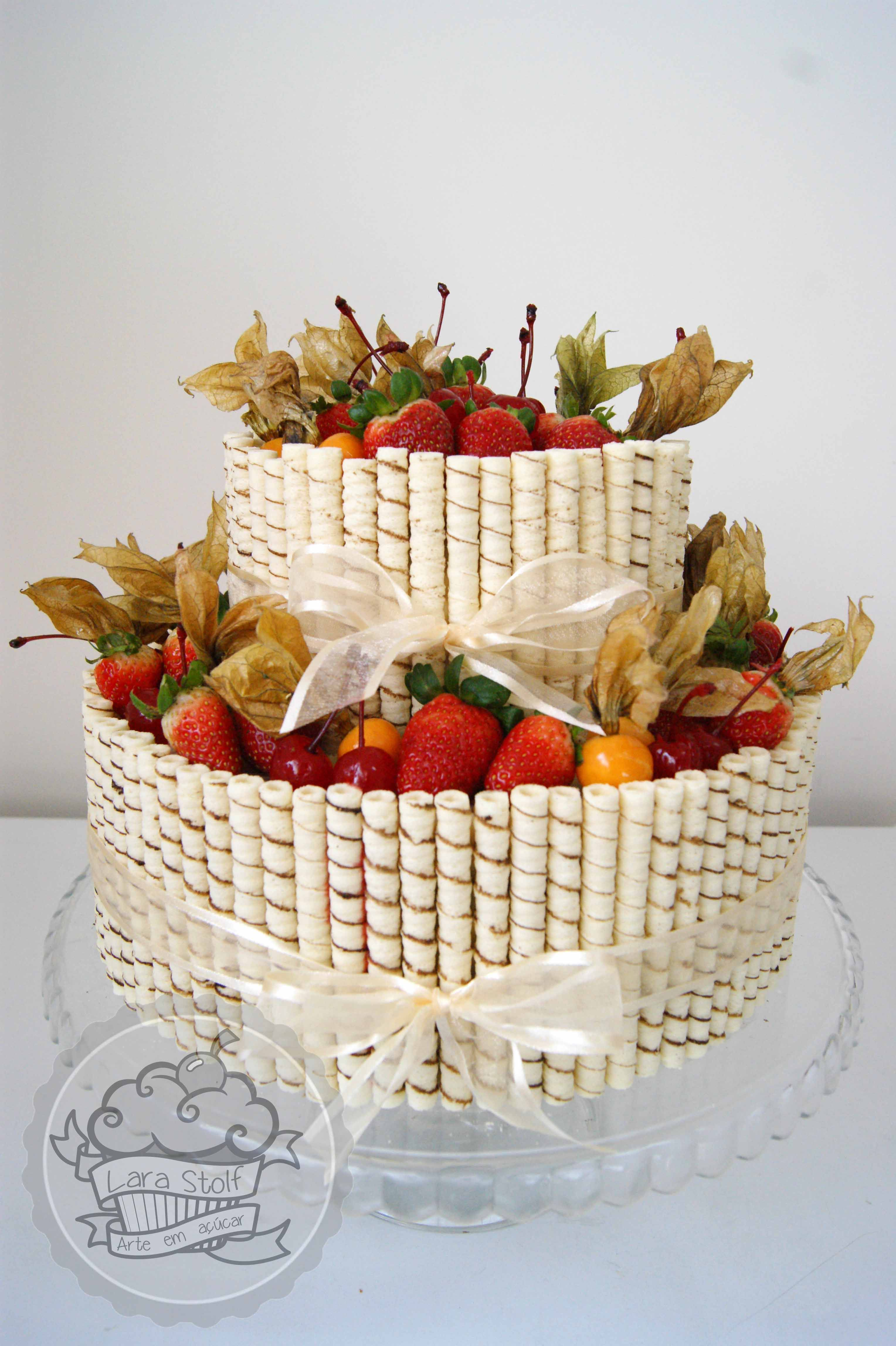 Rustic wedding cake. Bolo de casamento rústico