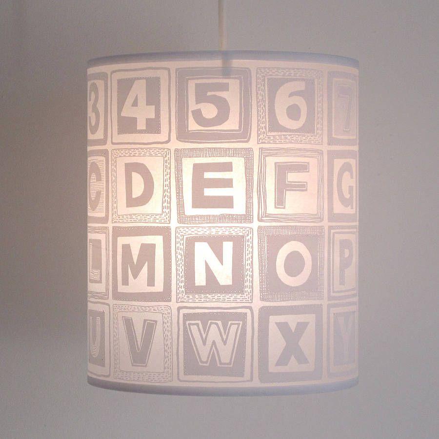 Alphabet block nursery lampshade more nursery pendant lighting