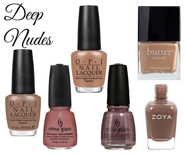 Best Nude Nail Polish for Light, Medium & Dark Skin Tones | Dark ...