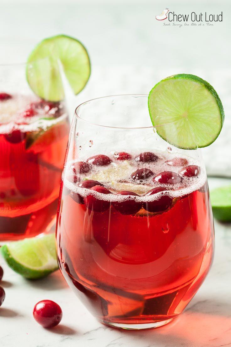 Sparkling Cranberry Prosecco Cocktail Recipe Prosecco