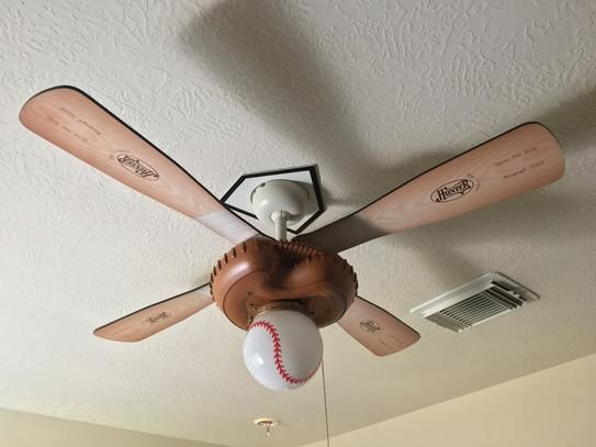 Hunter 44 In Indoor Baseball Ceiling Fan 23252 At The
