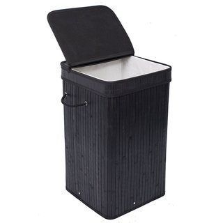 Birdrock Home Square Laundry Hamper With Lid And Cloth Liner