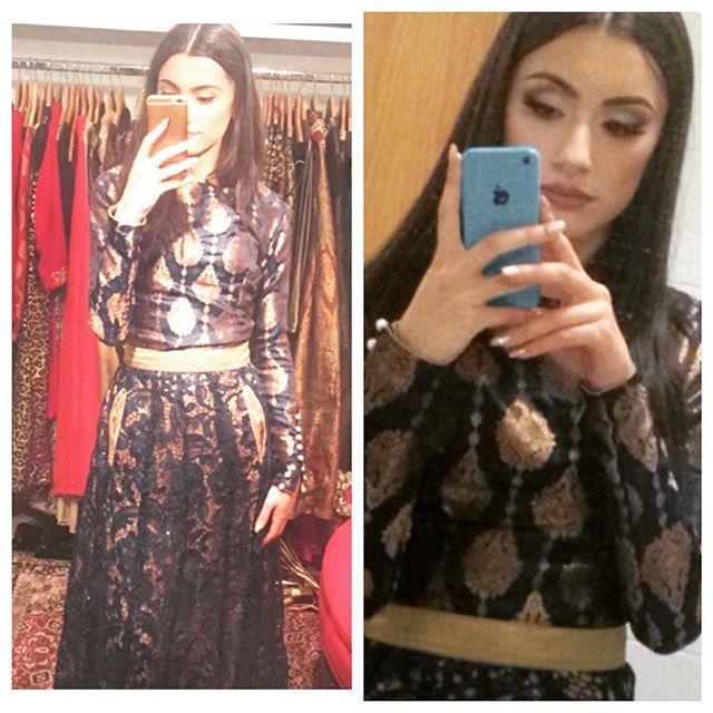 #selfies #waliyamalik #zaynmaliksister #wearingfaikakarim #lahorepret #london #selfielook #instapic #shineinefaikakarim #followfaikacollection