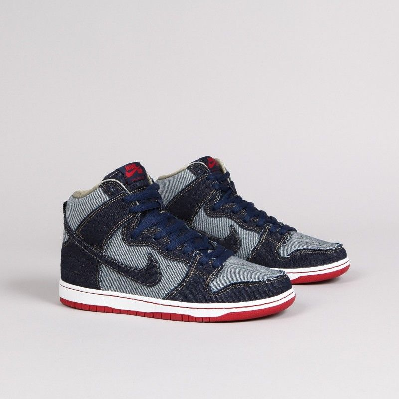 huge discount 2a16e d2cc4 ... czech nike sb dunk high pro denim reese forbes midnight navy white deep  red midnight e297f