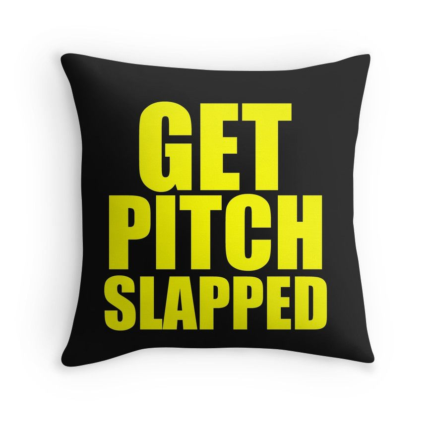 Get Pitch Slapped Throw Pillows By Divertions Redbubble Throw Pillows Pillows Pitch