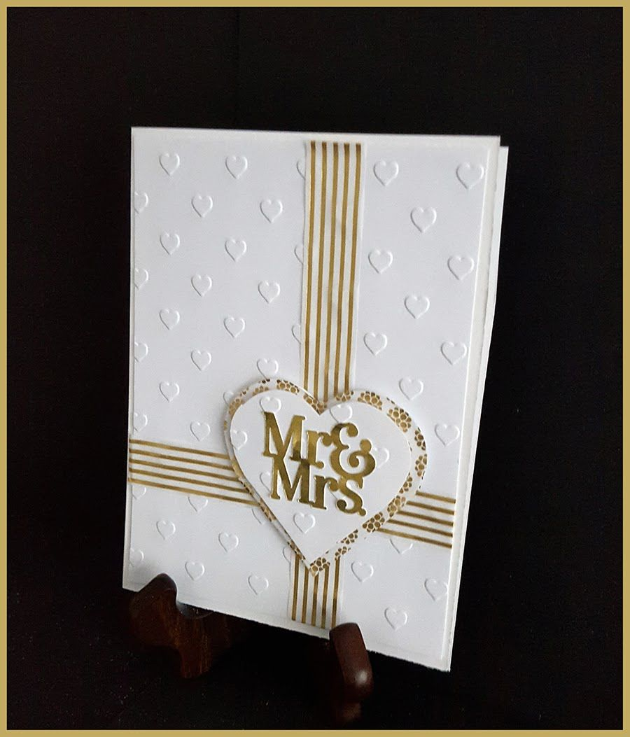 Quick and easy handmade card mr u mrs wedding wedding cards