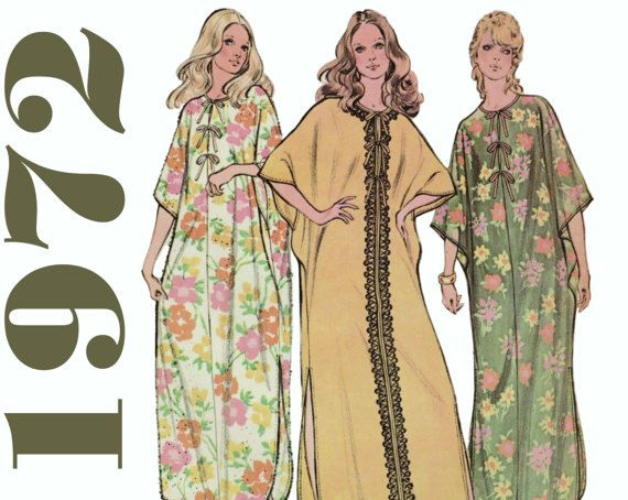 Vintage Caftan Pattern Beach Cover-up Pattern by ThePerfectPattern
