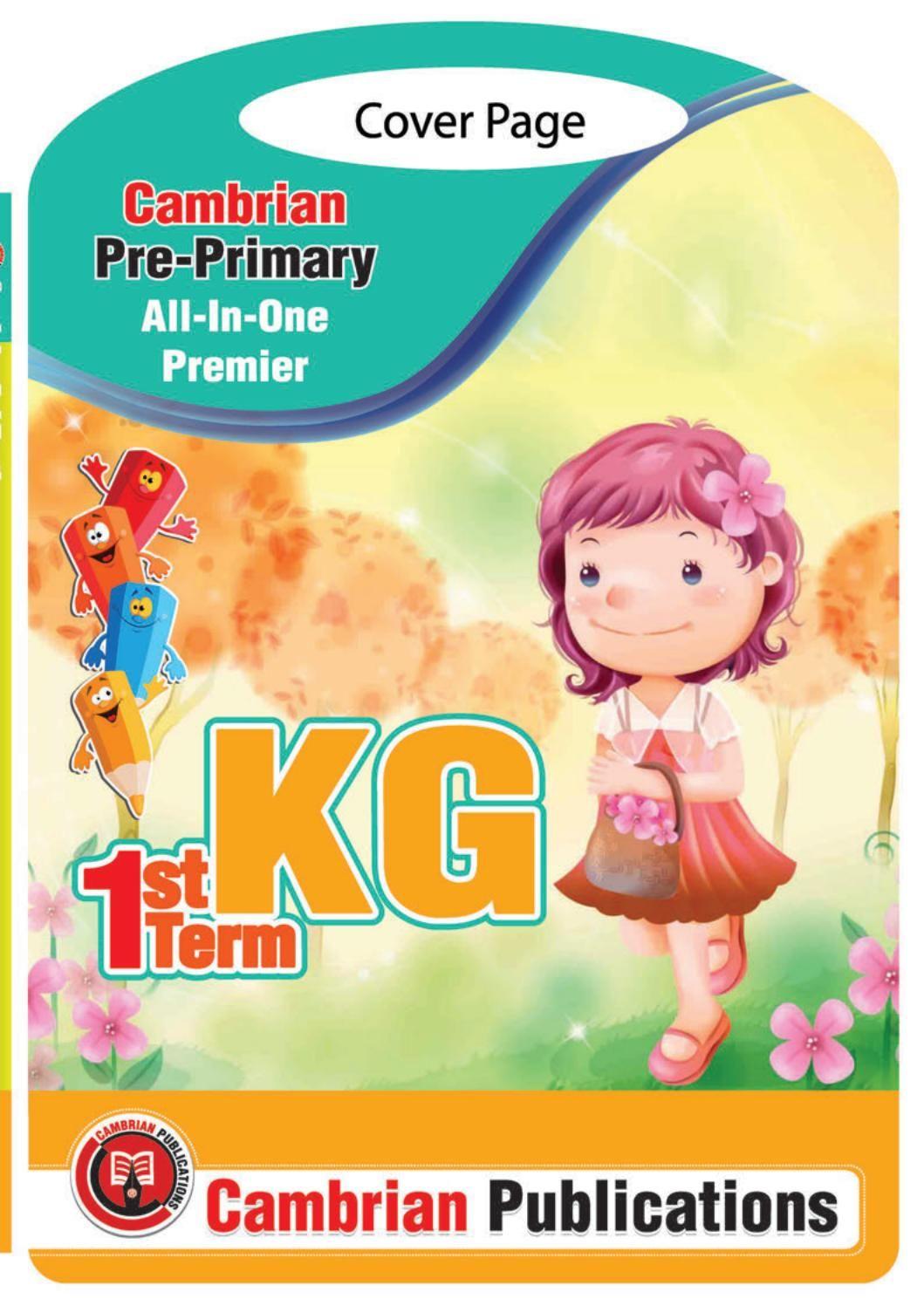 3 Kg Math 1st Term Book In