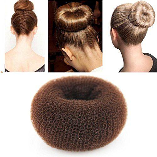 Ilulu 1 Piece Hair Styling Mesh Chignon Bun Maker Brown