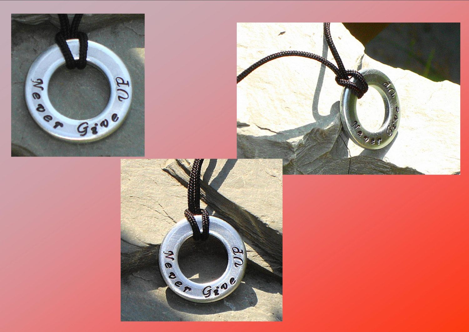 Mens washer pendant steel washer necklace metal stamped washer mens washer pendant steel washer necklace metal stamped washer pendant men masculine male jewelry mozeypictures Gallery