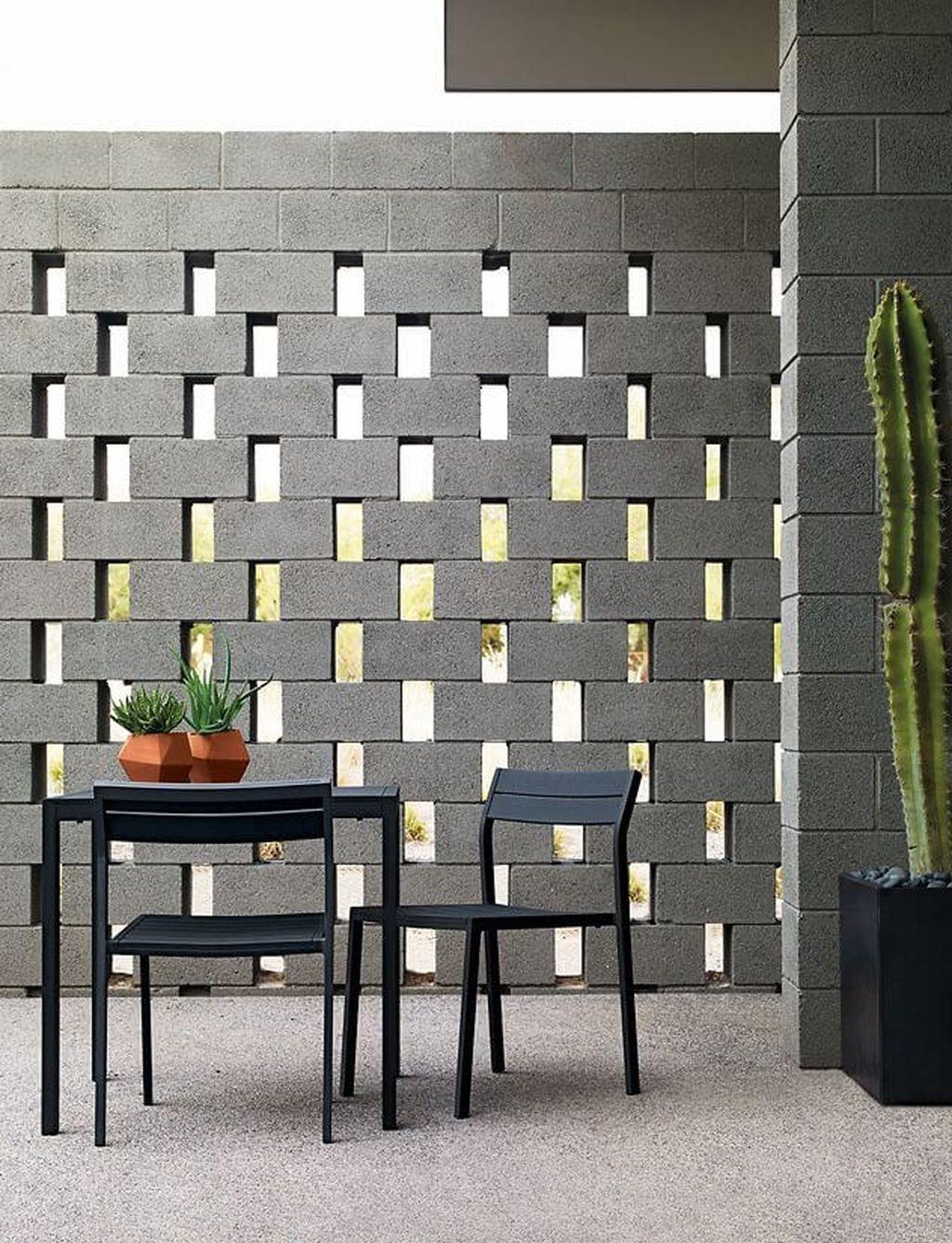 Creative Cinder Block Backyard Ideas On A Budget 57 Breeze Block Wall Brick Exterior House Cinder Block Walls