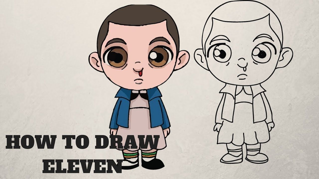 How To Draw Eleven Stranger Things Step By Step Easy Drawings