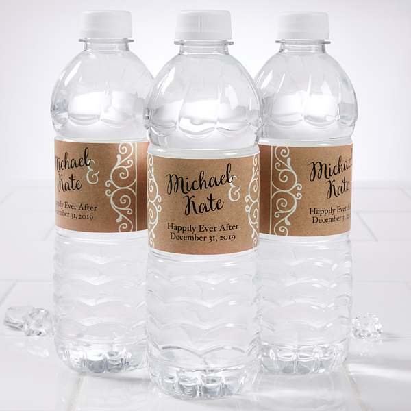 Personalized Wedding Water Bottle Labels Rustic Chic 1684 Wedding Water Bottles Personalized Water Bottles Wedding Personalized Water Bottle Labels Wedding