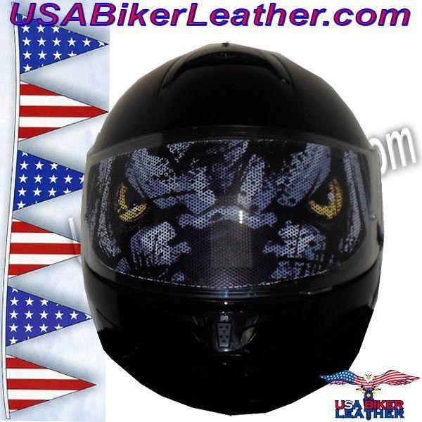 Wolf Eyes Motorcycle Helmet Visor Sticker SKU USAWOLFEYESHI - Custom motorcycle helmet stickers and decalssimpson motorcycle helmets