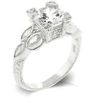 The Julianna Round Cut Two Carat Engagement Ring