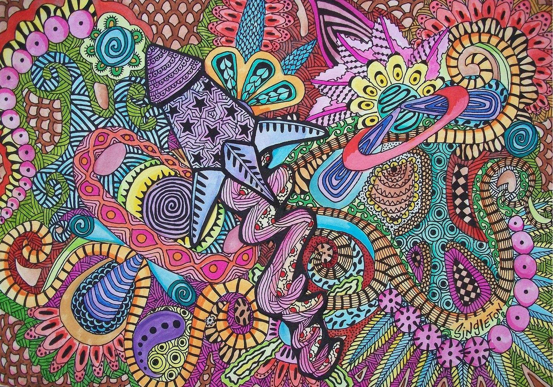 "Galaxy Tripping, Singleton Hippie Art, The Original ""We"