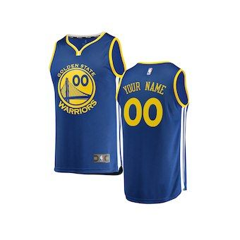 Golden State Warriors Fanatics Branded Youth Fast Break Custom Replica  Jersey Royal - Icon Edition a3defb95a