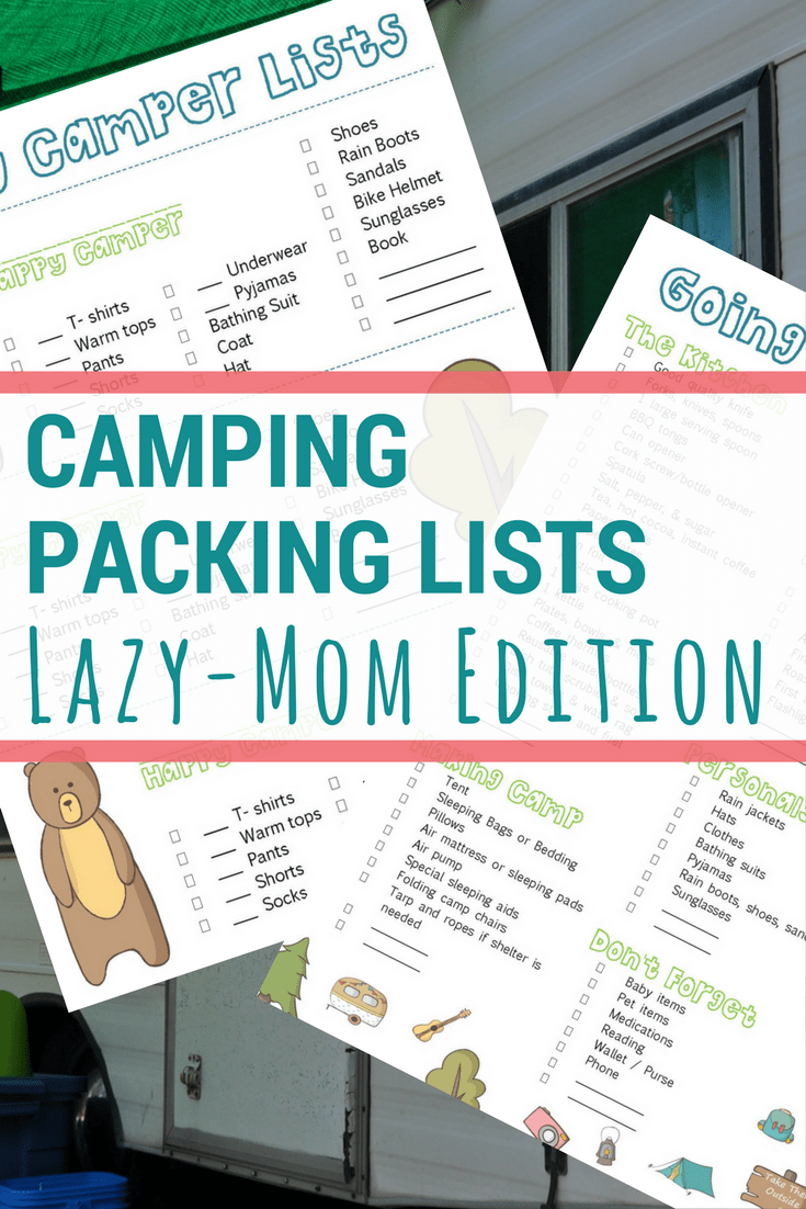 Your Camping Packing List - The Lazy-Mom Edition