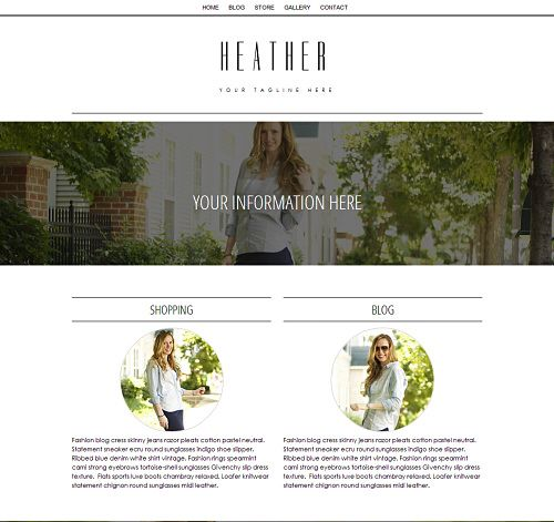 Parallax Dark - A one page Custom Weebly template that will knock ...