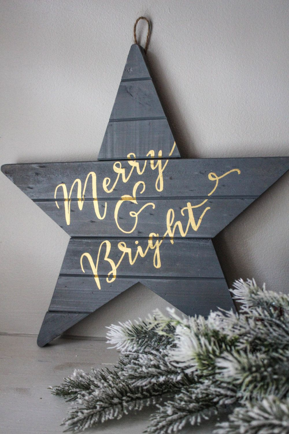 Merry u0026 Bright Gray Holiday Wall