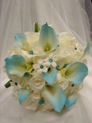 Tiffany Blue Wedding Flowers Bridal Bouquet For Tiffany Blue