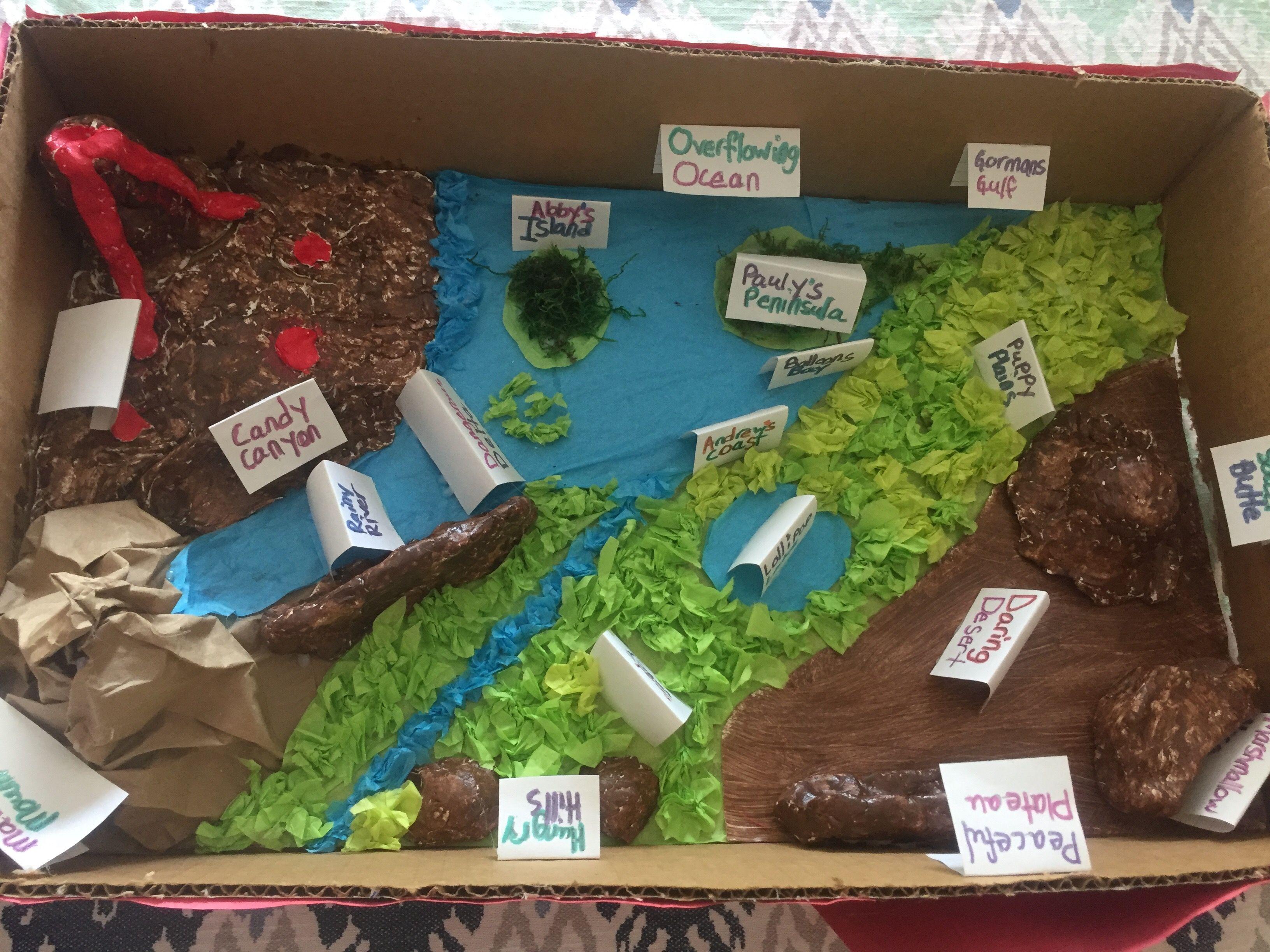 Landforms Project 3rd Grade Landforms Landformsproject