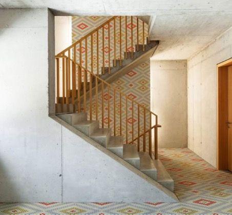 Reviste suelos y paredes con personalidad rombos que - Pavimentos ceramicos interiores ...