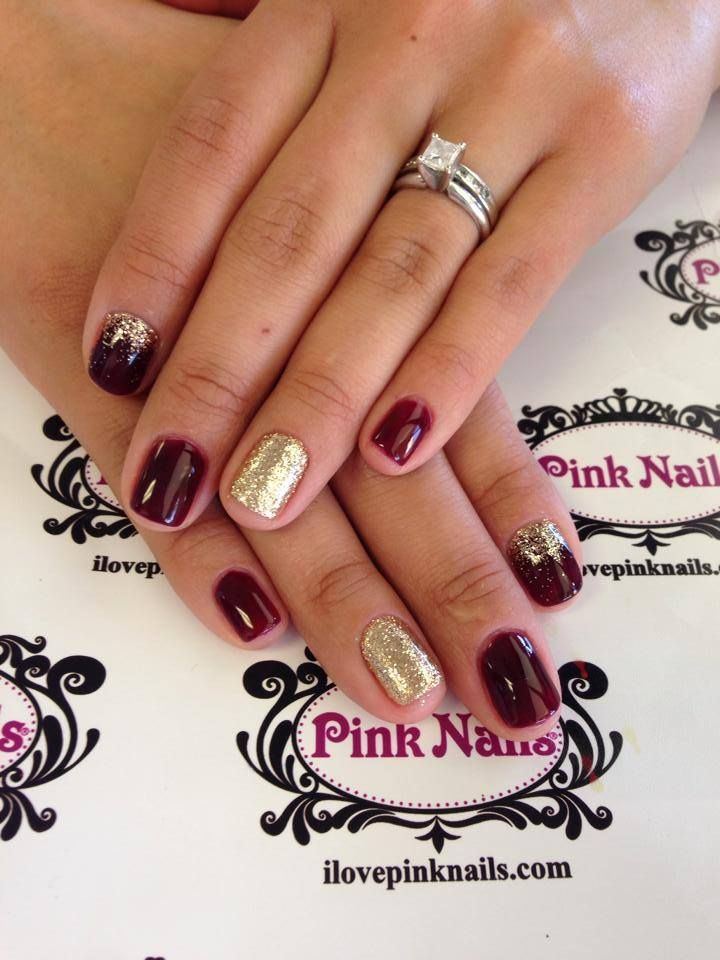Burgundy and gold nails google search nails pinterest gold burgundy and gold nails google search prinsesfo Choice Image